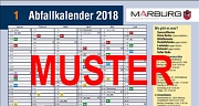Das Bild zeigt das erste Halbjahr des Abfallkalenders Nummer 1 für das Jahr 2018.