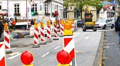 Die Fahrbahn musste für den Verkehr Richutng Ketzerbach vier Tage gesperrt werden.