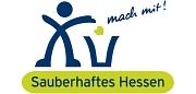 """Das Foto zeigt das offizielle Logo der Umweltkampagne """"Sauberhaftes Hessen""""."""
